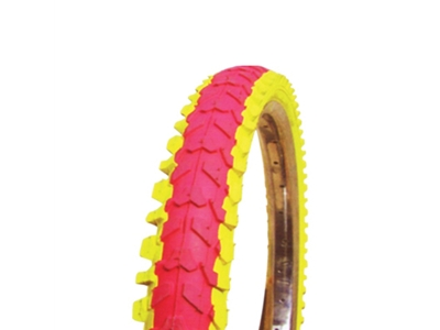 Colored tires (red and yellow)