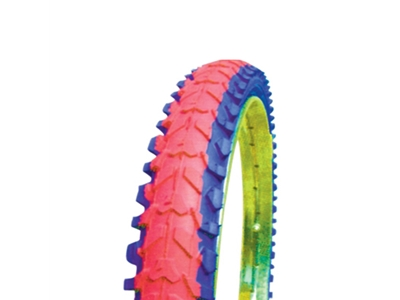 Colored tires (red and blue)